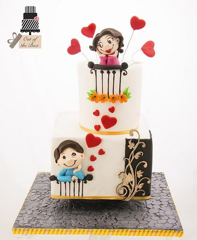 Love is in the air - Cake by Out of the Box