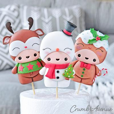 Cute Christmas Cake Toppers - Cake by Crumb Avenue