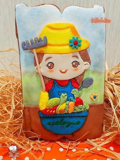 Farmer girl - Cake by Gele's Cookies