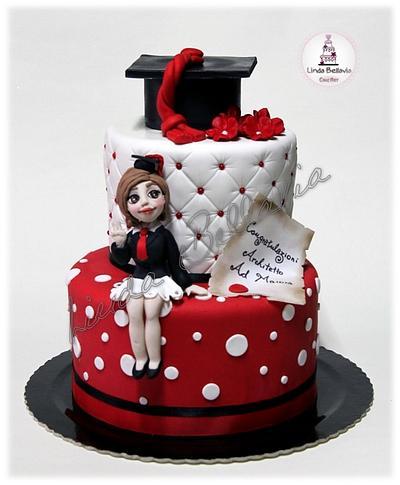 Graduation cake and cake pops - Cake by Linda Bellavia Cake Art