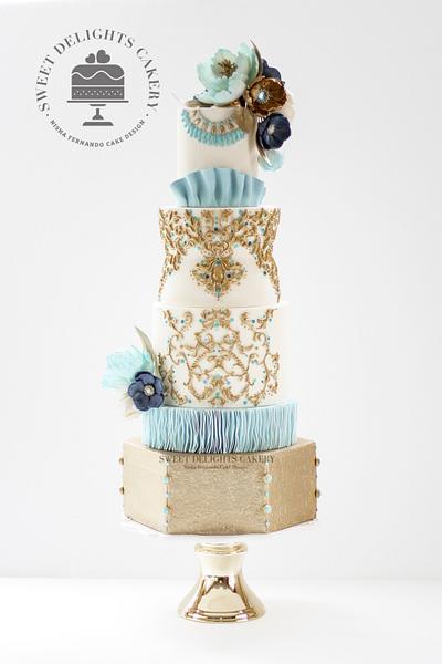Krikor Jabotian Inspired Wedding Cake - Wedding Cakes Inspired By Fashion - Cake by Sweet Delights Cakery