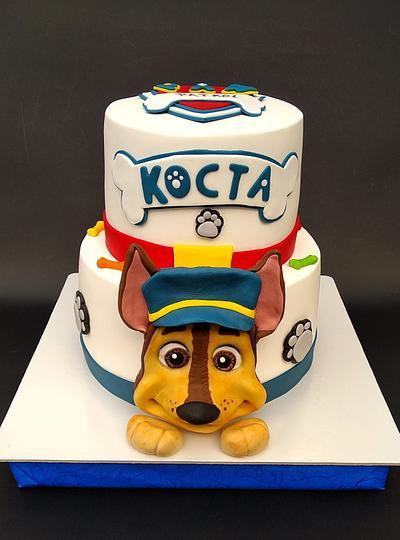 Paw Patrol, Chase - Cake by Dragana