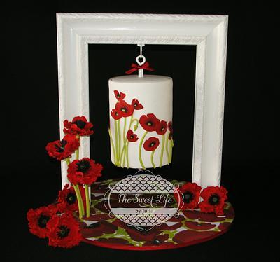 Hanging Poppy cake - Cake by Julie Tenlen