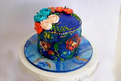 Blue lagoon -caker buddies collaboration  - Cake by Archana