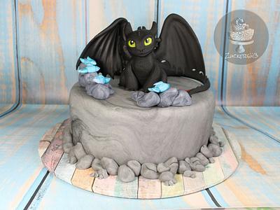 Toothless Cake  - Cake by Zuckersüß
