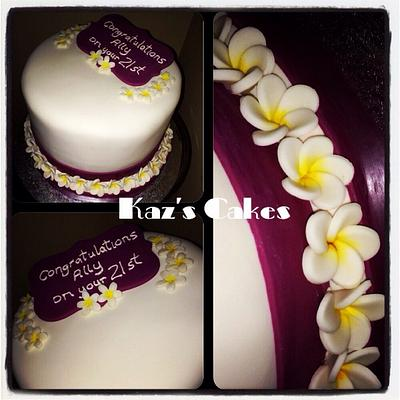 21st Frangipani Cake - Cake by Karen