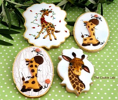 """Dreamland Collaboration  """"Giraffe´s Party at the Zoo"""" ! - Cake by The Cookie Lab  by Marta Torres"""