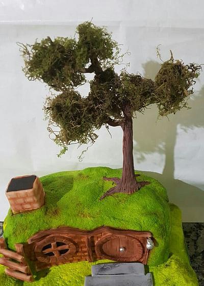 Casa del Hobbit - Cake by María Mercedes Tello