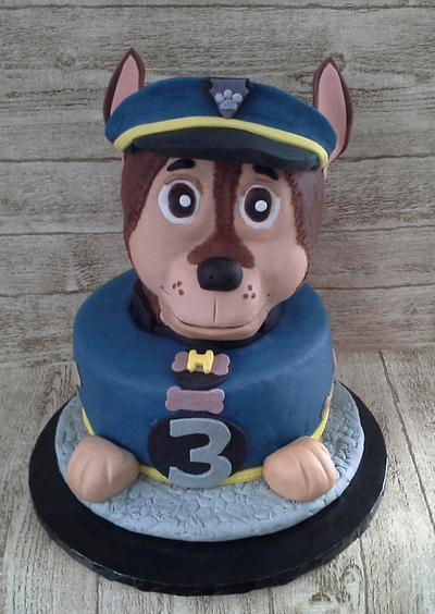 """Chase from Paw Patrol for Hudson - Cake by June (""""Clarky's Cakes"""")"""