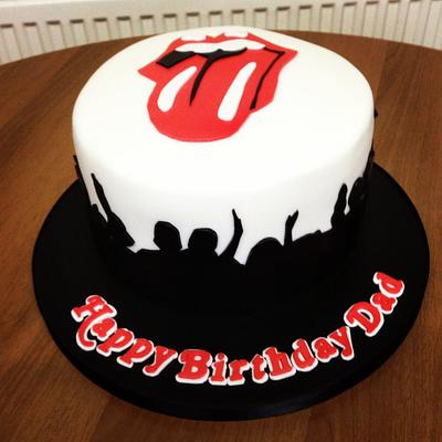 """""""It's Only Rock N' Roll"""" Rolling Stones Cake - Cake by Charlene - The Red Butterfly Bakery xx"""