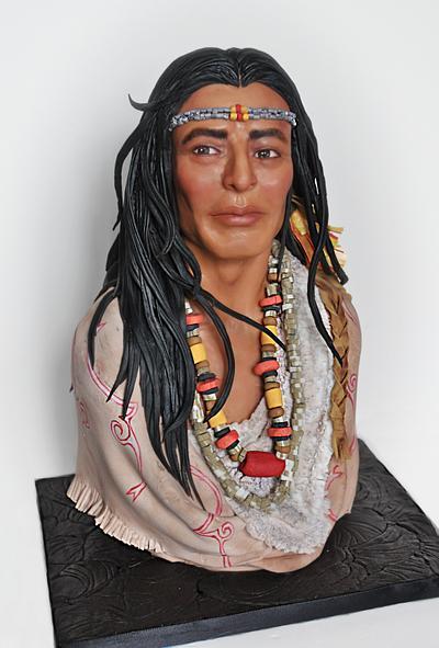 Cherokee Warrior - Cake by Sandra Smiley