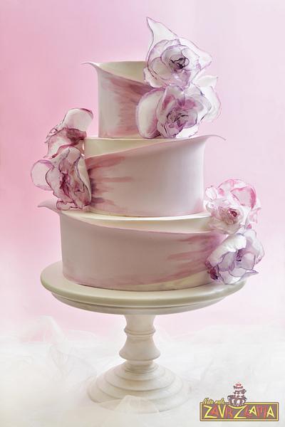 Lilac Wedding Cake - Cake by Nasa Mala Zavrzlama