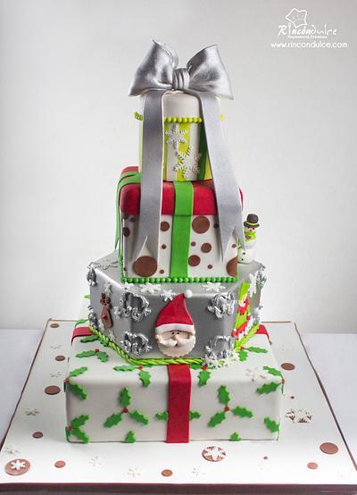 Inspired Christmas cake - Cake by Rincón Dulce