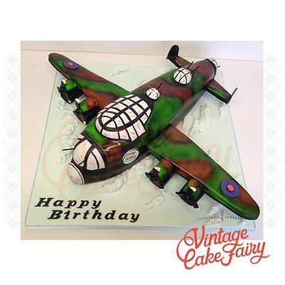 Lancaster Bomber! - Cake by Vintage Cake Fairy
