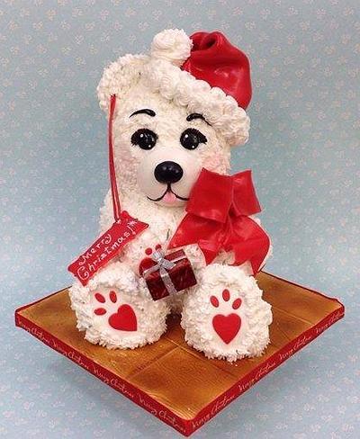Teddy ready for Christmas  - Cake by Ribana Cristescu