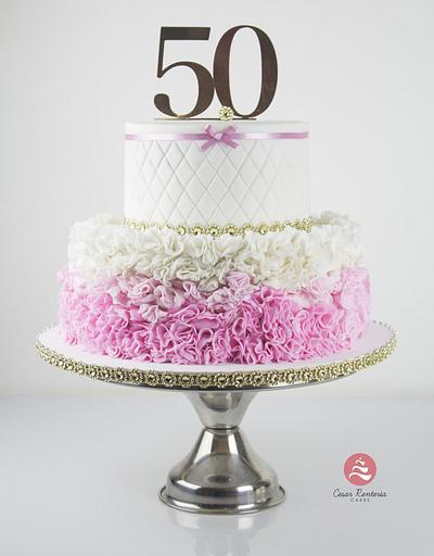 50 Birthday - Cake by Cesar Renteria Cakes