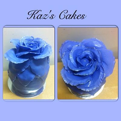 The Blue Rose - Cake by Karen