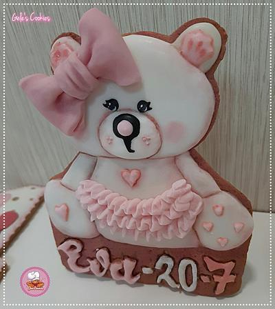 Teddy bear and number 1 cookies - Cake by Gele's Cookies