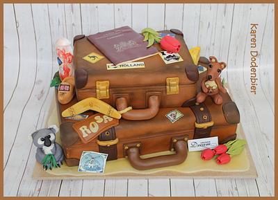 Australian/Dutch Farewell cake - Cake by Karen Dodenbier