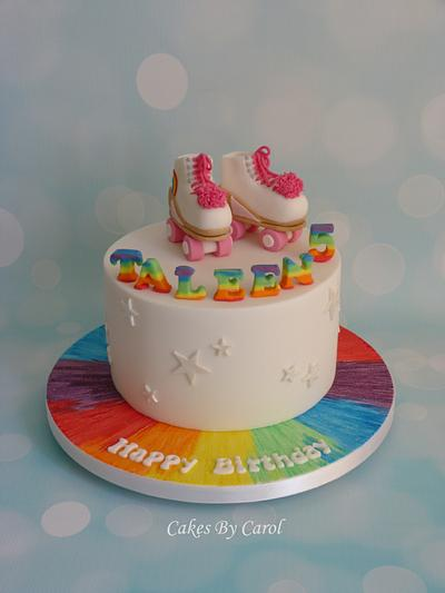 Rainbow Roller Boots - Cake by Carol