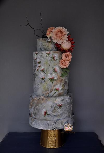Vineyard Wedding: Paint & Texture - Cake by Sumaiya Omar - The Cake Duchess