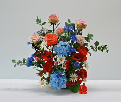 Sugarflowers and Cakes in Bloom #WorldCancerdayCollaboration2019 - Cake by Catalina Anghel azúcar'arte