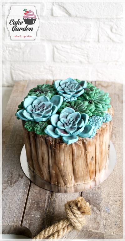 Succulent cake - Cake by Cake Garden