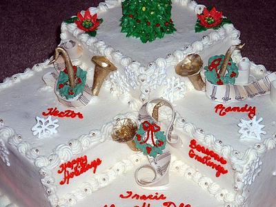 Tri Level Christmas cake - Cake by kakeladi