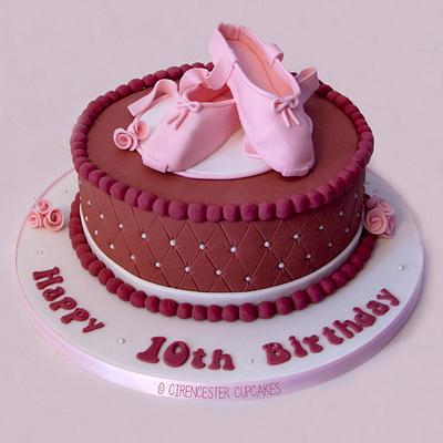 Ballet Shoes Birthday Cake - Cake by Happy_Food