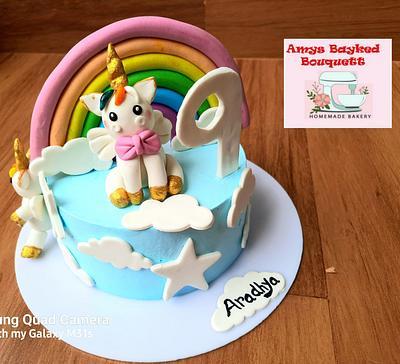 Unicorn theme cake - Cake by Amys bayked bouquett