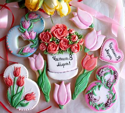 Decorated cookies for Woman's Day - Cake by TortIva