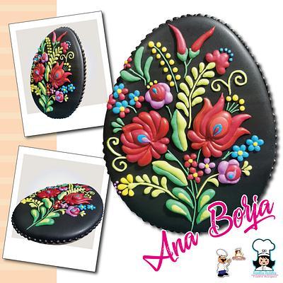 Hungari style embroidery - Cake by NanitaPachita_AnaBorja