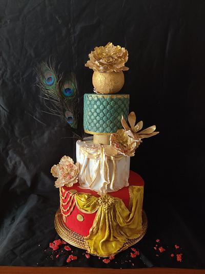 Dancer dress cake:Srilanka Collaboration - Cake by Dr RB.Sudha