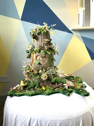 Autumn Wedding Cake - Cake by Alanscakestocraft