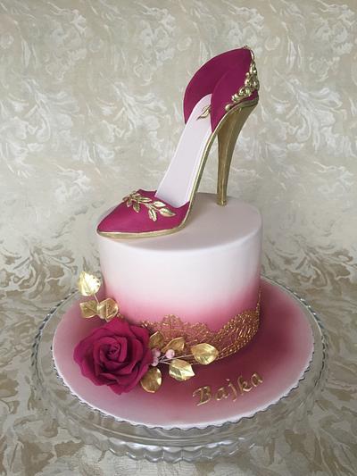 High heel shoe cake - Cake by Layla A