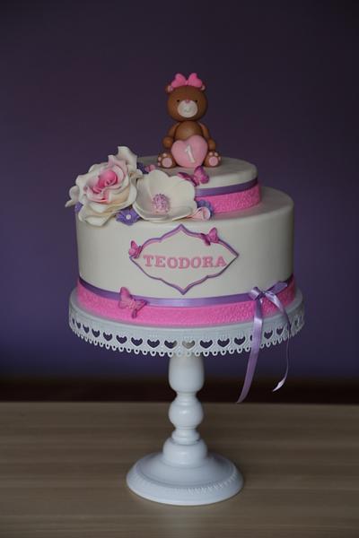 Sweet pink bear - Cake by Zaklina