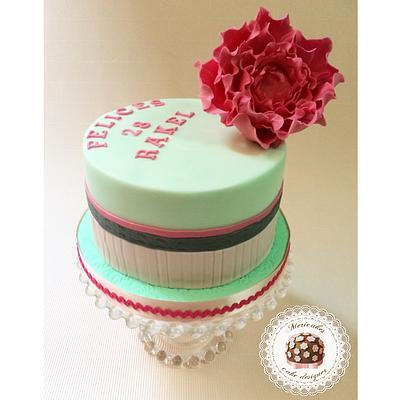Peony birthday cake by Mericakes - Cake by Mericakes