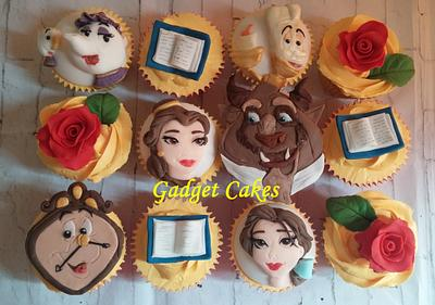 Beauty and the beast cupcakes - Cake by Gadget Cakes