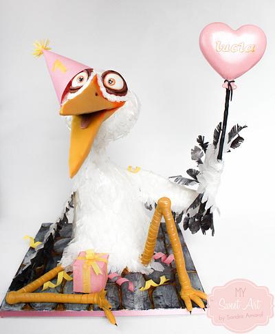 Stork Cake - Cake by My Sweet Art