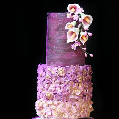 Flower Love - PDCA CAKER BUDDIES COLLABORATION  - Cake by Subhashini