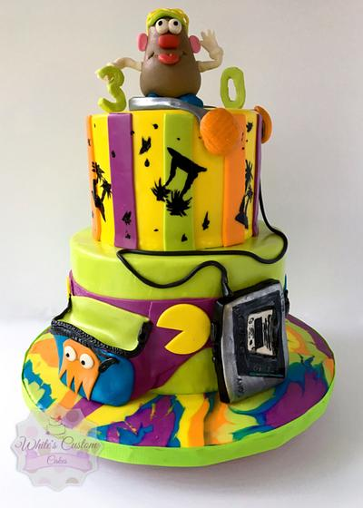 Grooving to the 80's!! - Cake by Sabrina - White's Custom Cakes