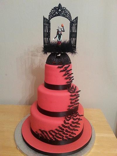 Nightmare Before Christmas wedding cake - Cake by Emma