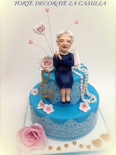 My Grandmother 100 years old cake - Cake by  La Camilla