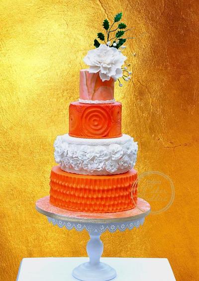 Caker buddies pottery theme collaboration -Morning glory  - Cake by Archana