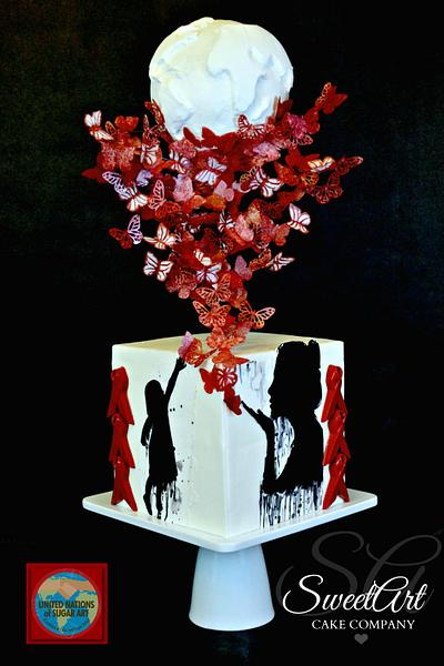 UNSA Be Red Collaboration Cake - Cake by Shannon Mayes-SweetArt Cake Company