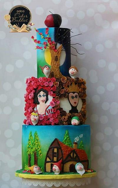 Caker buddies children storybook collaboration - The Snowwhite and seven dwarfs  - Cake by TheSugarCanvas