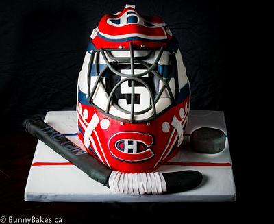 Montreal Canadiens Goalie Helmet Cake - Cake by BunnyBakes