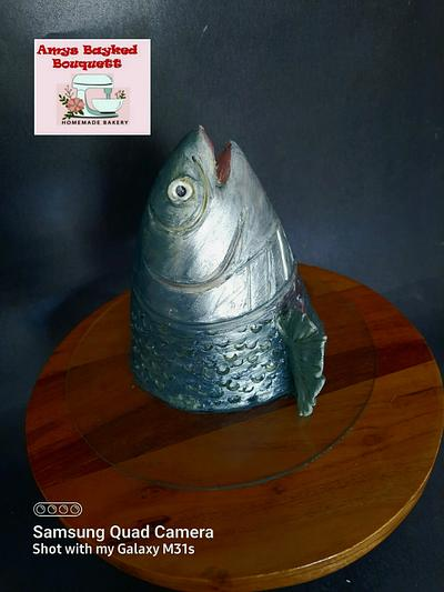 Fish head theme birthday cake  - Cake by Amys bayked bouquett
