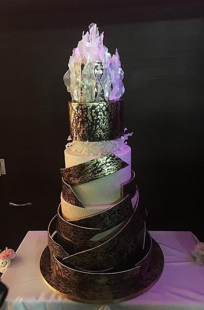 Contemporary wedding cake - Cake by Delice