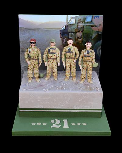 Soldiers on sunset - Cake by Kidacity